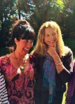 Gateless Gate Writing Retreat founder, Suzanne Kingsbury, and agent/writer/publisher, Dede Cummings at the coastal Rhode Island retreat sharing a laugh!