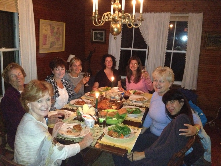 Dinners and readings occur at night—after a day of workshops, walking, yoga, etc. We cook for you!